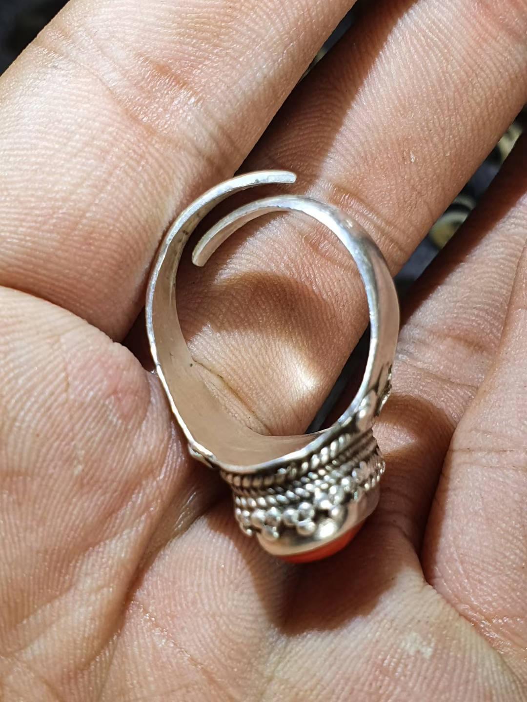 清代珊瑚戒指,保真